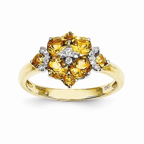 shopby citrine desire qp jewellers ring gold in classic rings ct