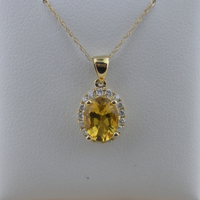 Citrine pendants long jewelers regular price 52500 sale price 41900 citrine and diamond pendant aloadofball Image collections